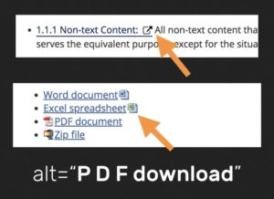 screenshots of external link icons, word document icons, and pdf icons